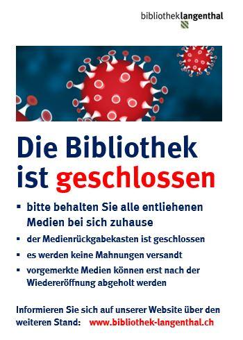 Abgebildet ist das Plakat zur Schliessung. Den Text auf dem Plakat steht in der News.
