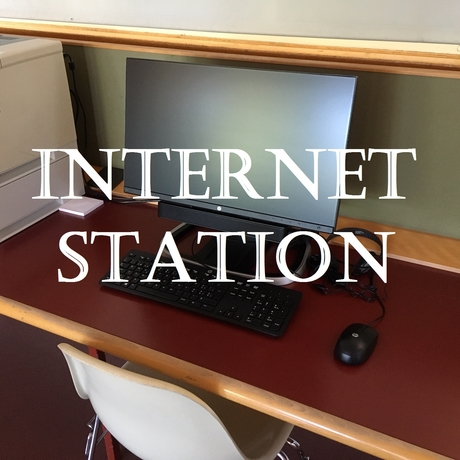 Foto der Internetstation in der Bibliothek