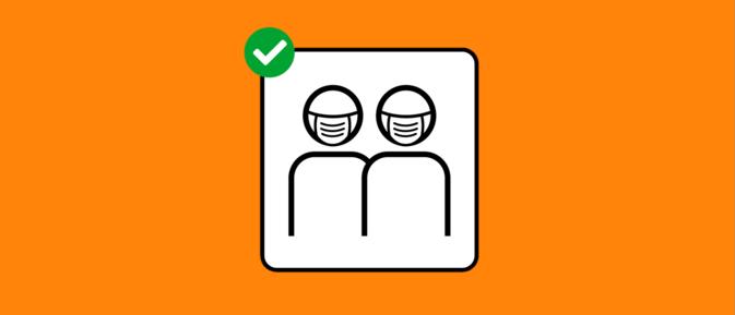 Auf dem Bild ist das Piktogramm des BAG zur Maskenpflicht